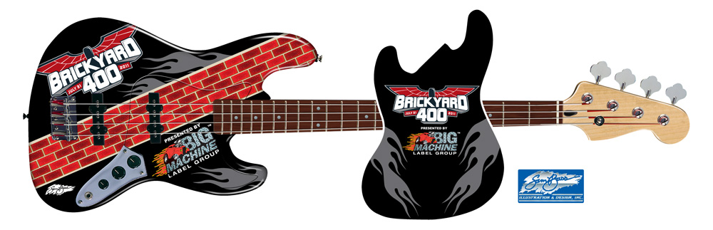 2011 Rascal Flatts Jazz Bass