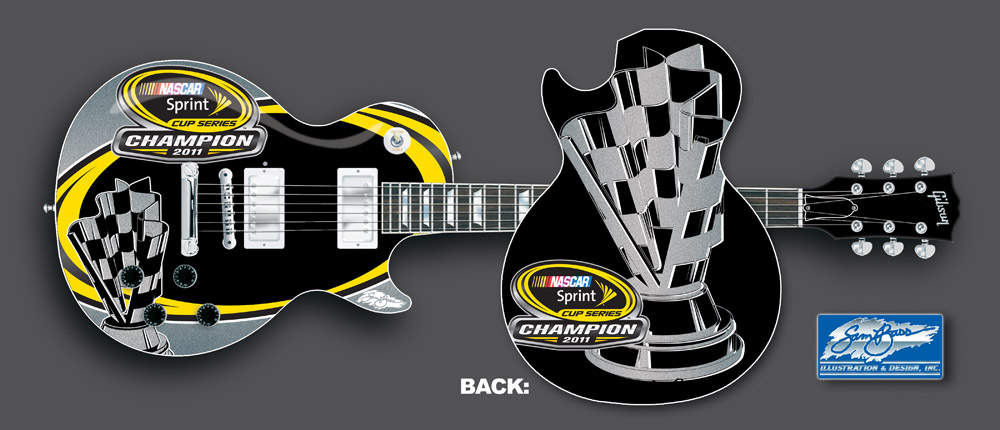 2011 Sprint Cup Award Ceremony Guitar