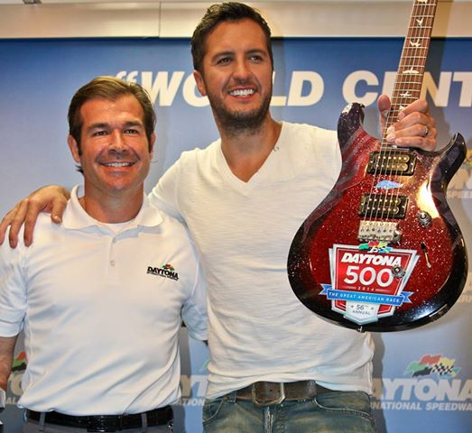 Luke Bryan Daytona 500 guitar